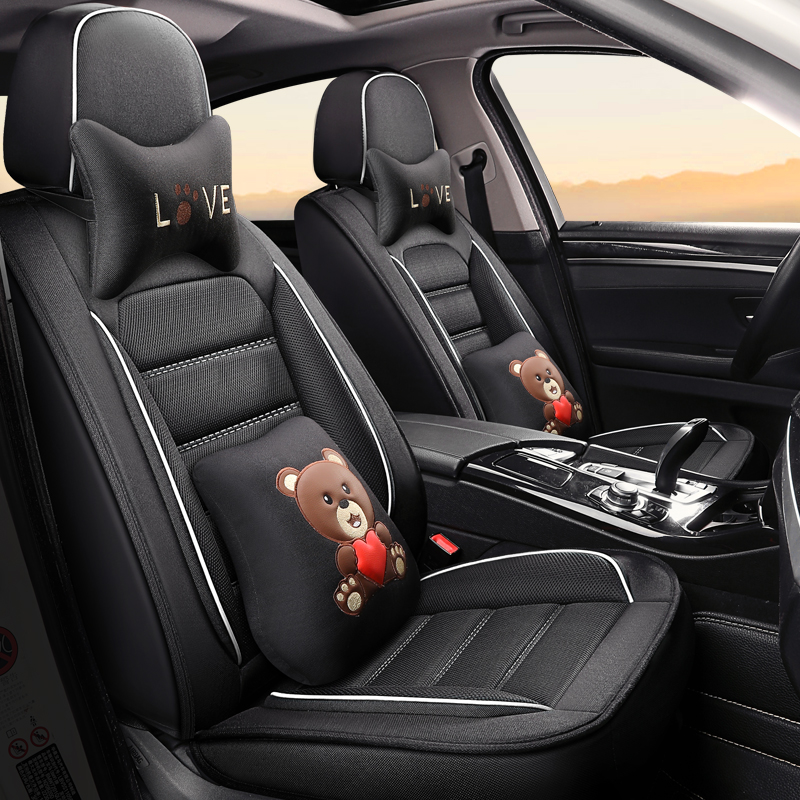 Full Coverage flax fiber car seat cover auto seats covers for Nissan almera leaf sentra tiida teana gtr juke|Automobiles Seat Covers| |  - title=