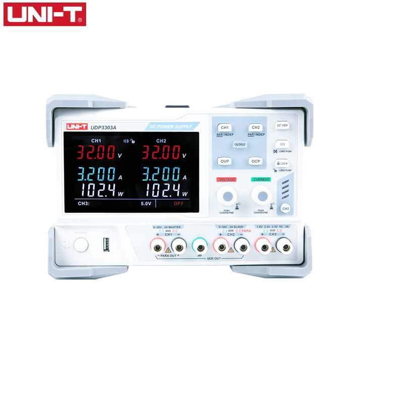 UNI-T UDP3303A Industri Linear DC Regulated Power Supply 3 Output Presisi Tinggi Digital Display Power Supply