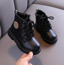 Kids Martin Boots Boys Shoes Autumn Winter Leather Children Boots Fashion Toddler Girls Boots Warm Winter Boots Kids Snow Shoes cheap JGSHOWKITO unisex CN(Origin) 7-12m 13-24m 25-36m Platform Fashion Boots Flat with Cotton Fabric Round Toe Fits true to size take your normal size