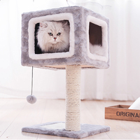 Pet Cats Toy for Cat Climbing Tree Shelf Layer Kitten Scratching Post Pad Cat Mat Multi functional House Scratch Board Products