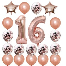 8-Season Happy 16th Birthday Banner Balloons Set for Sweet 16 Years Old Birthday Party Decoration Supplies Gold Black graffiti art colorful rain prints on canvas modern canvas painting wall art posters and prints for living room home decoration
