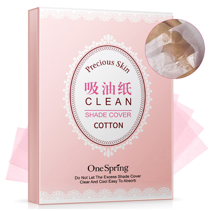 100Pcs Effective Oil Absorbing Cleansing Blotting Paper Skin Care Lightweight Soft Smooth Makeup Natural Face Tissue Portable