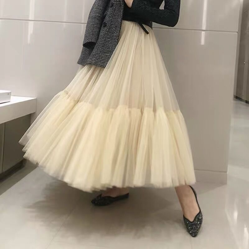 WholeSale 4 Layers 90cm Women's Fashion Skirt Tulle Skirt Mesh TUtu Skirt Bride Party Skirts