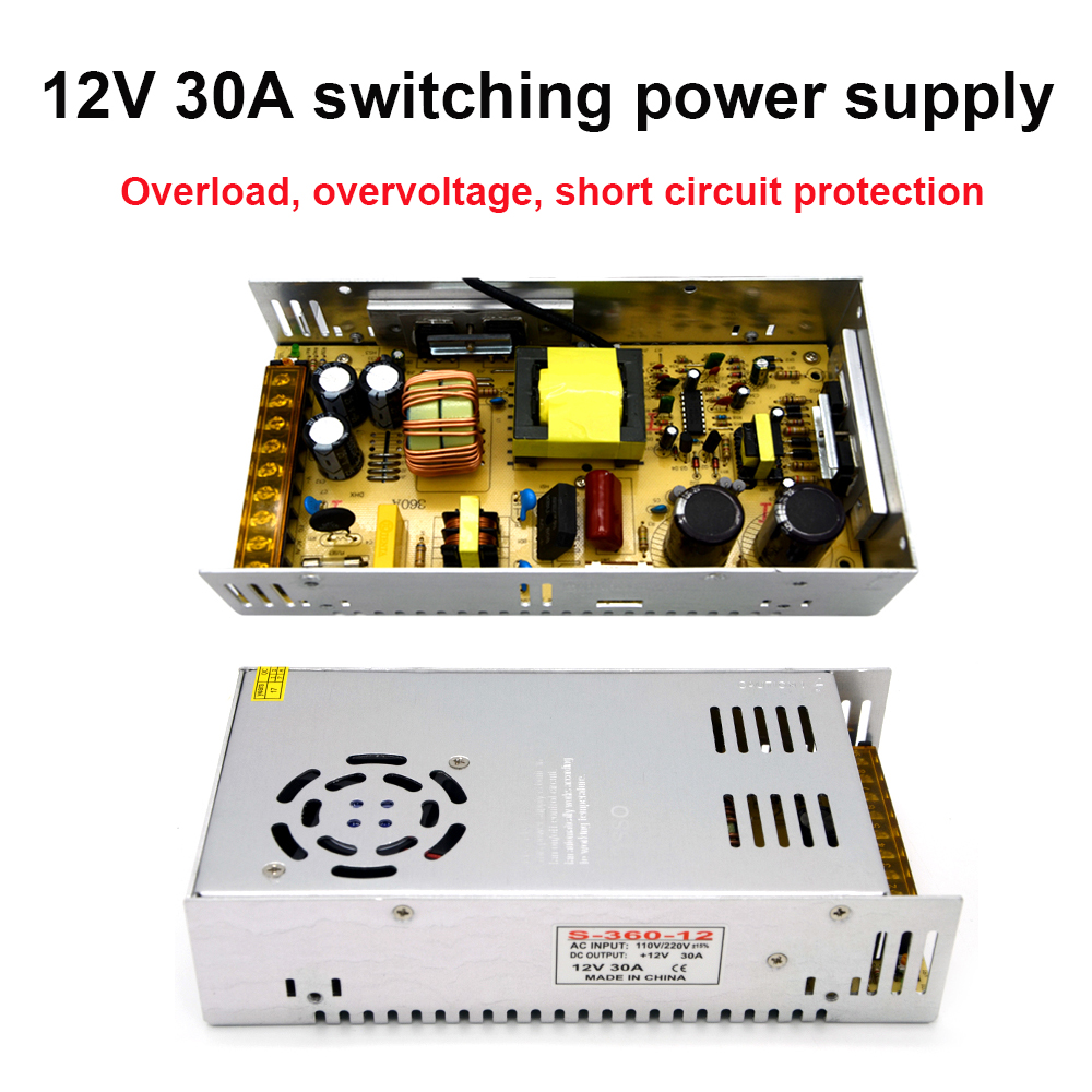 DAC 220 V Input DC 12 V 30A Output 360 W Power Supply Switching Power Supply For Security Camera