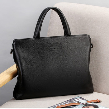 Bolso hombre men briefcase genuine leather men computer bag office bags male laptop handbag business real leather bag maletines