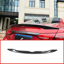 цена на Rear Carbon Fiber Car Trunk Spoiler Wing For INFINITI Q50 Q50S 2014-2018 Rear Wing Spoiler Rear Trunk Roof Wing