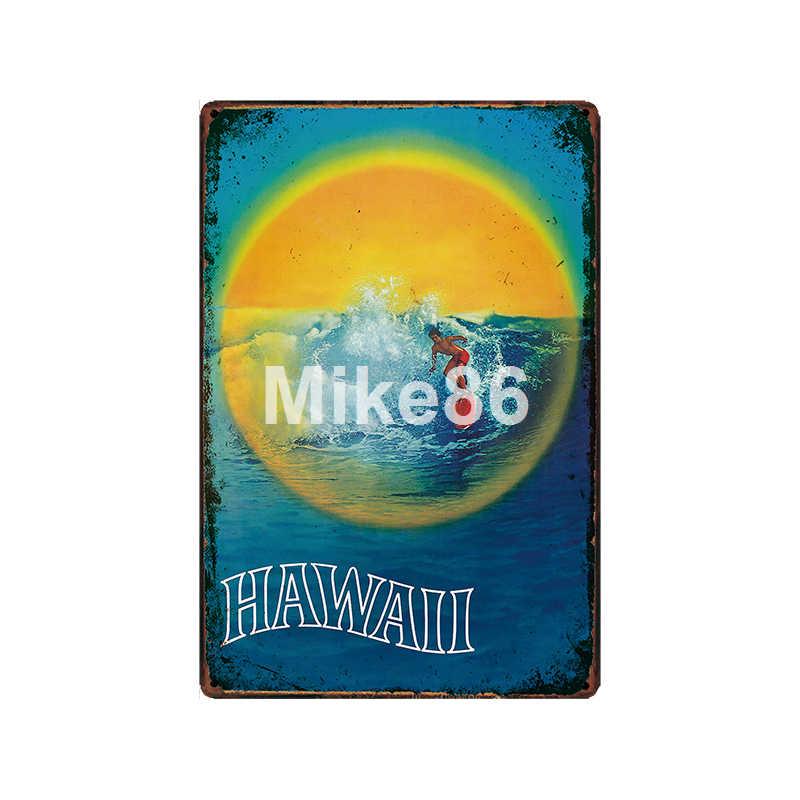 [Mike86] hawaje hawana izrael indie meksyk brazylia metalowy znak Vintage sklep Retro miasto podróży malarstwo Art 20*30 CM LT-1933