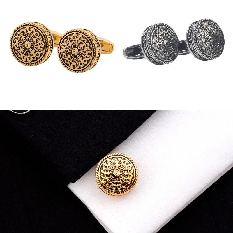 Vintage cufflinks gold colors