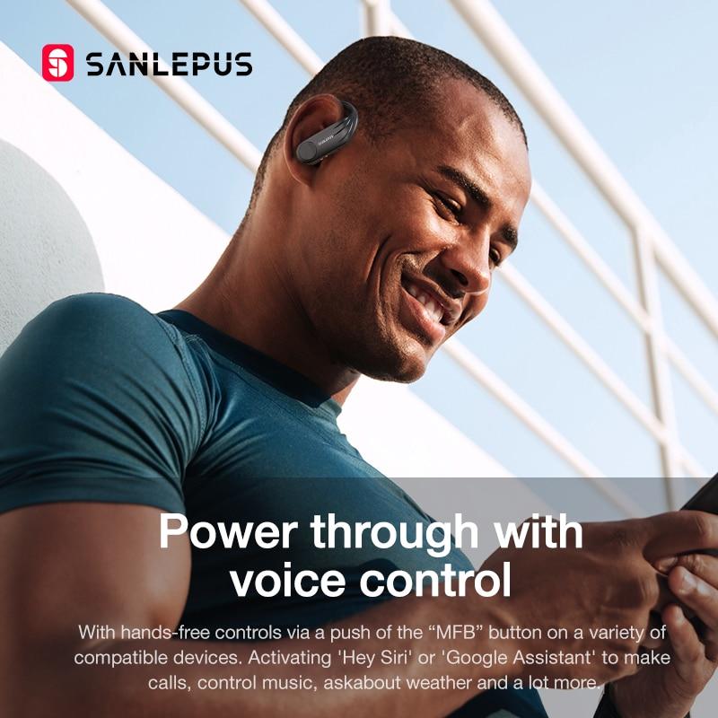 SANLEPUS TWS B1 fon kepala tanpa wayar bluetooth tanpa wayar dengan - Audio dan video mudah alih - Foto 5