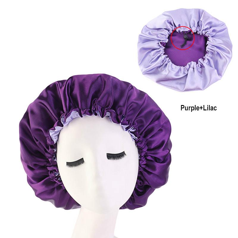 Women Big Size Beauty Print Satin Silk Bonnet New Extra Large Satin Lined Bonnet Sleep Night Cap Head Cover Bonnet Hat Wholesale