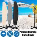 Waterproof Cloth Outdoor Banana Umbrella Cover Shade Garden Weatherproof Patio Cantilever Parasol Rain Cover Accessories