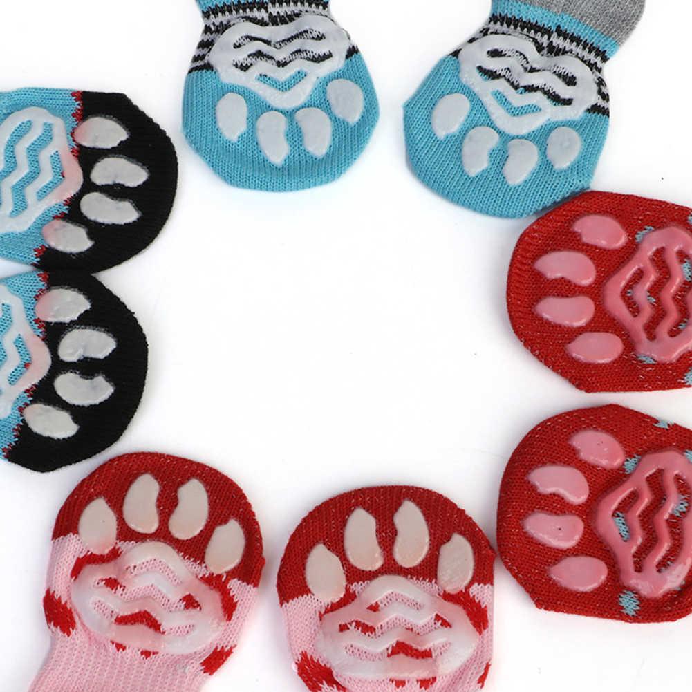 Winter Hond Schoenen Anti-Slip Gebreide Sokken Kleine Honden Kat Schoenen Chihuahua Dikke Warme Poot Protector Hond Sokken booties Accessoires