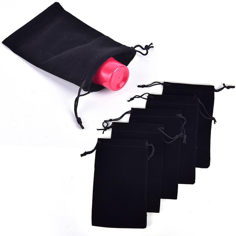 5pcs/lot 15cm X 9.5cm Black Drawstring Velvet Bags & Pouches Jewelry Bags Gift Packaging Bag Wholesale