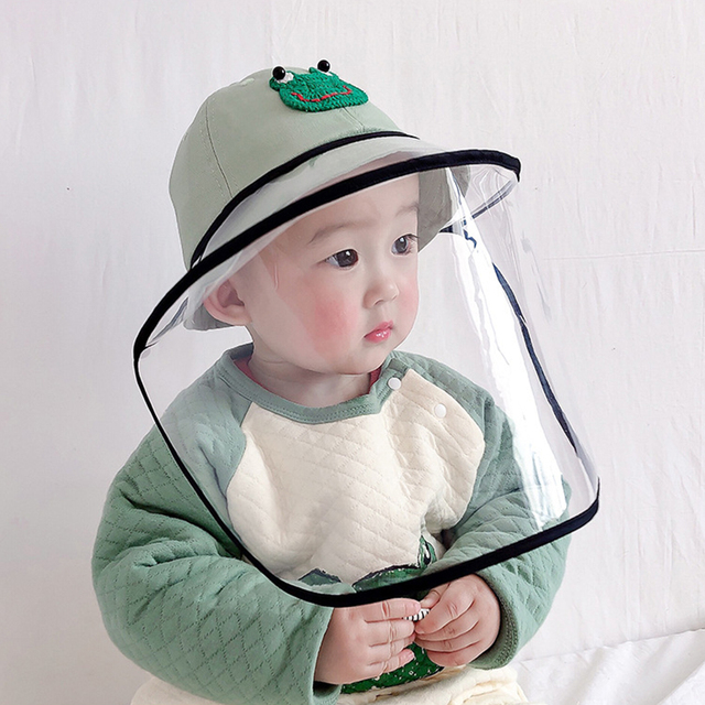 Children Anti Saliva Hat Outdoor Dust-proof Cartoon Fruits Protective Face Cover Caps Removable Mask Sun Shield Baseball Cap