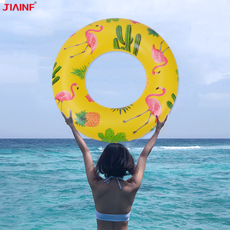 Inflatable Flamingo Pineapple Buoy Swimming Ring Circle Adult Pools Floats Mattress Row Water Party Toys Accessories
