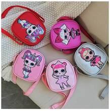 1pc kawaii lol surpresa bonecas saco do mensageiro bonito lantejoulas selvagem maré bordado crossbody sacos de ombro para senhoras meninas