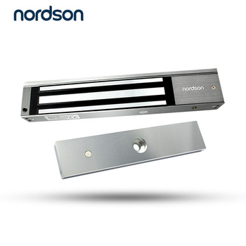 Nordson Original DC12V/24V Double Door Embedded 280kg/600lbs LED Electronic Magnetic Lock For Access Control System Fireproof