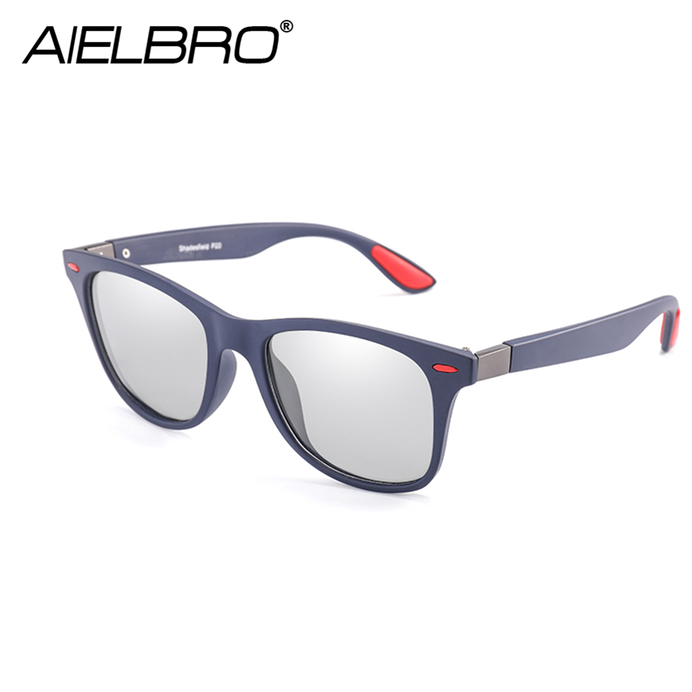NEW Men Polarized Discoloration Sun Glasses Cycling Sunglasses Outdoors Sports Change Color SunGlasse Goggle UV400 Gafas De Sol in Cycling Eyewear from Sports Entertainment