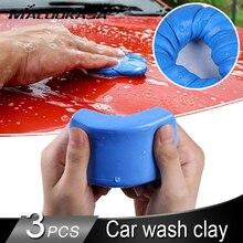 Arcilla mágica con detalles azules para lavado de coches, miniherramienta de limpieza manual para camiones y coches, elimina el polvo de hierro, Uds.