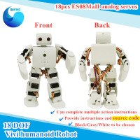 1 set Plen 2 Vivi Humanoid Robot with Control Board+ Servos+ Charger Compatible With Arduino 3D Printing Provide Source DIY