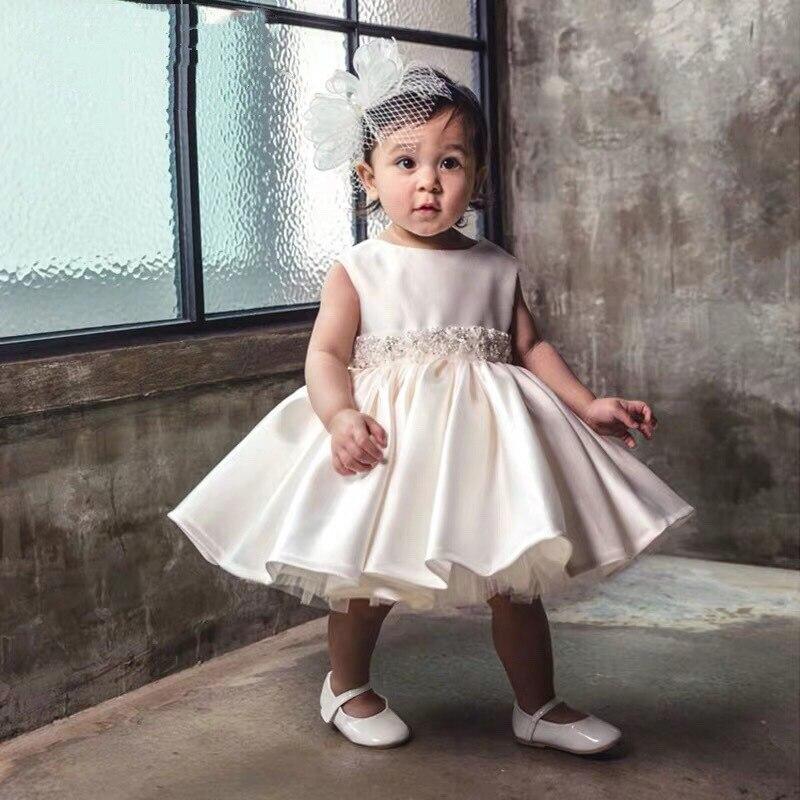Baby Girl Christening Dress For Baptism Wedding Big Bow Layered Tulle Newborn Party Wear Infant Princess 1 Year Birthday Dress