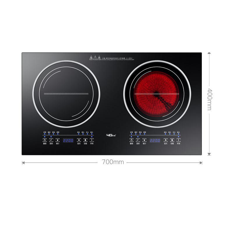 Built-in Panel Cooktop Double-burner Electric Cooktop Induction Cooker And Ceramic Cooker Double Stove Embedded Dual Use