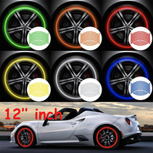 16 pçs 12 polegada, adesivos de roda reflexivos, adesivos de roda de carro, adesivos de motocicleta, adesivos reflexivos