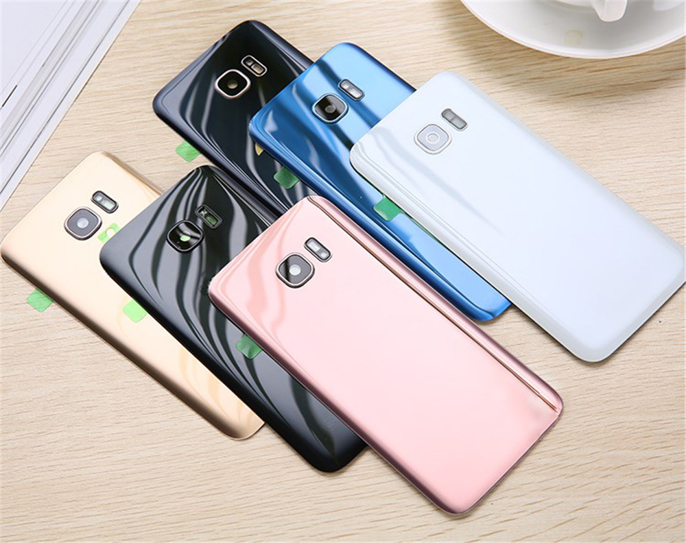 For SAMSUNG Galaxy S7 G930F/S7 EDGE G935F Back Glass Battery Cover Rear Door Housing Case Back Glass Cover Original With LOGO