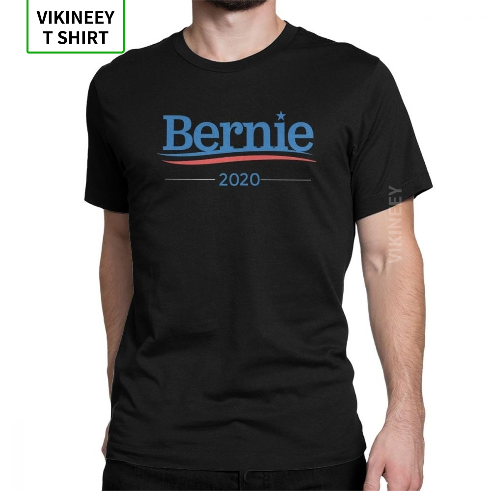 Bernie Sanders 2020 Campaign Funny T Shirts For Men United States Vote Short Sleeve Clothes Black Tee Shirt Purified Cotton