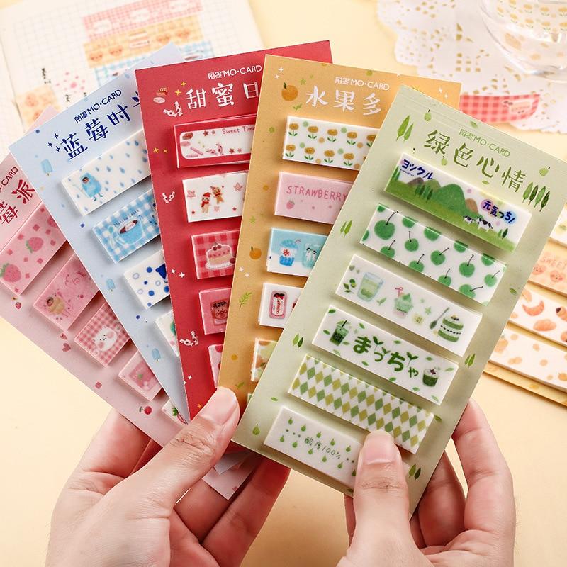 Snack Shop Series Memo Pad Notes Escolar Papelaria School Supply Bookmark Label