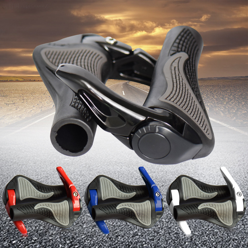 MTB Bike Grips Anti-Skid Ergonomic <font><b>Bicycle</b></font> Grips Bike Bar ends Handlebars Rubber <font><b>Bicycle</b></font> <font><b>Parts</b></font> Cycling Grips <font><b>Bicycle</b></font> Accessories image
