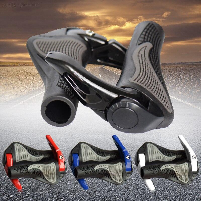 MTB Bike Grips Anti-Skid Ergonomico Manopole e Grip estremità Della Barra Della Bici Manubrio In Gomma Parti di Biciclette Ciclismo Manopole Bicicletta Accessori