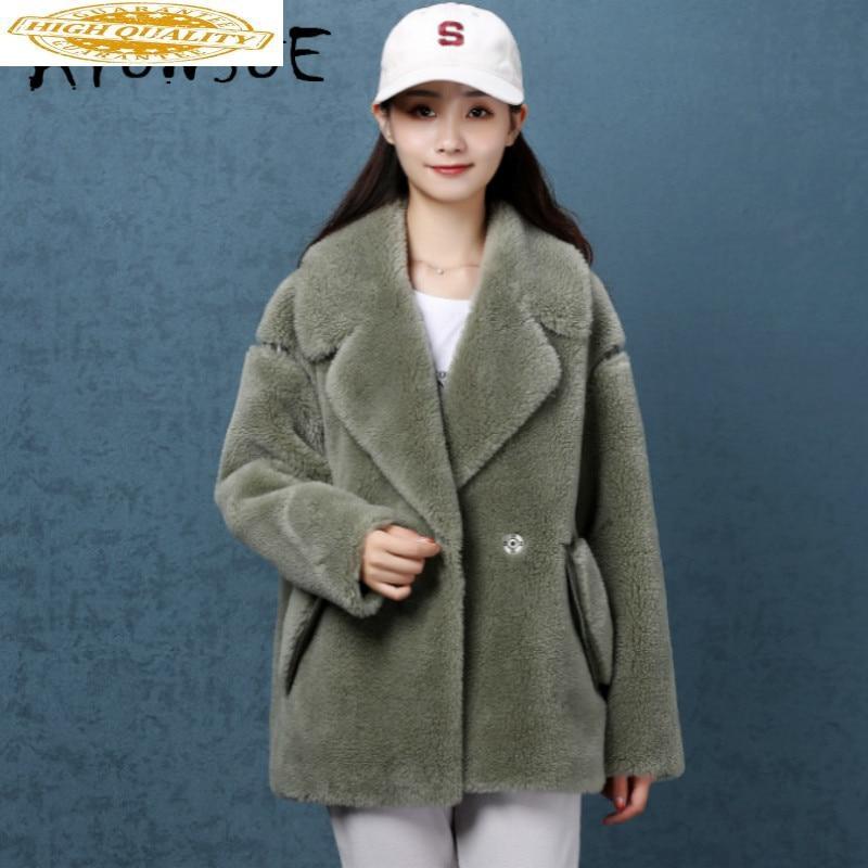 Real Fur Coat Women Sheep Shearing Winter Coat Women Korean Wool Jacket Women Clothes 2020 Abrigo Mujer NKZ9811 YY1428