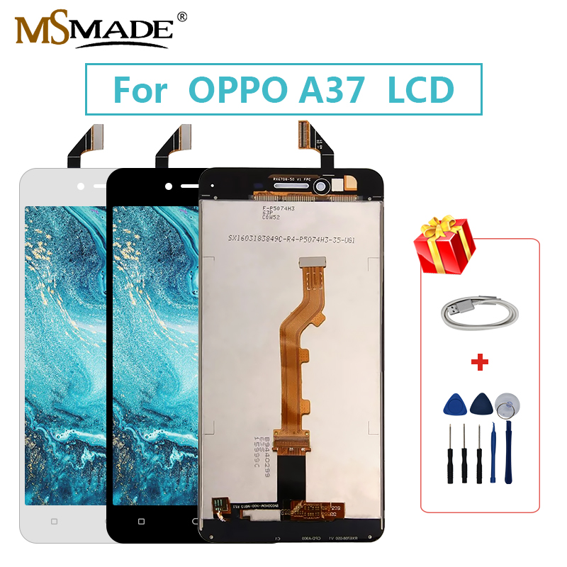 Original LCD For OPPO A37 A37M LCD Display Screen Touch Digitizer Replace Assembly Parts For OPPO A37 A37M LCD Display