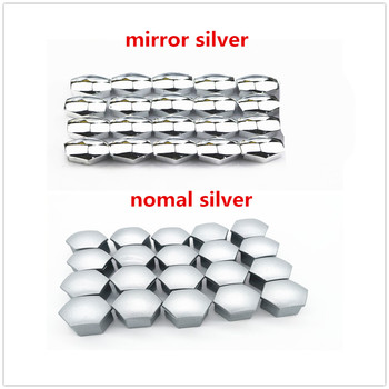 Silver Car Wheel Nut Caps Hub Screw Cover Bolt for YAMAHA Renault Trucks Dacia Citroen Kenworth Infiniti Skoda Octavia A7 image