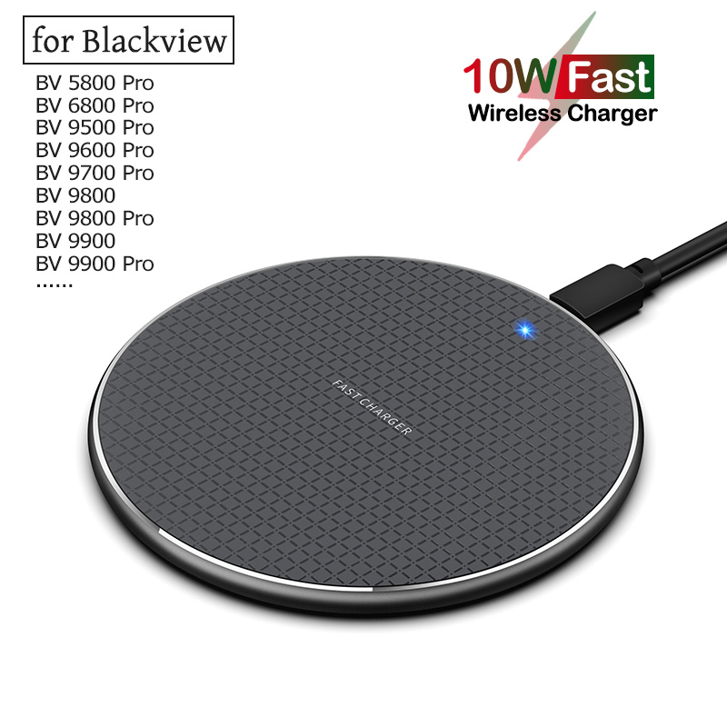 Qi 10W Fast Wireless Charging for Blackview BV5800 BV6800 BV9500 BV9600 BV9700 BV9800 BV9900 Pro Plus Wireless Phone Charger(China)