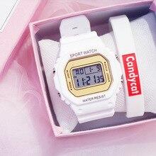 Luxury Women Digital Watch LED Electronic Wrist Watch Luminous Clock Watch Waterproof Sport Watches Montre Femme Reloj Mujer
