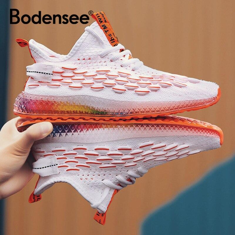 2019 Outono Homens Sapatos 4D Impressão Lace-up Sapatos Casuais Homens Tênis Leve E Confortável Respirável Andando Zapatos Feminino