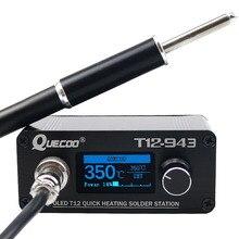 MINI T12 943 OLED STM32 1.3 inç dijital ekran lehim istasyonu ile DC24V3A abd/ab güç kaynağı ve Metal saplı ve K ucu