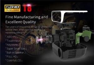Image 4 - ByJoTeCH T8 projektor LED 4500 lumenów 1920x1080 kina domowego Beame 3D Full HD 1080P Amlogic S905 Android Proyector VS T6
