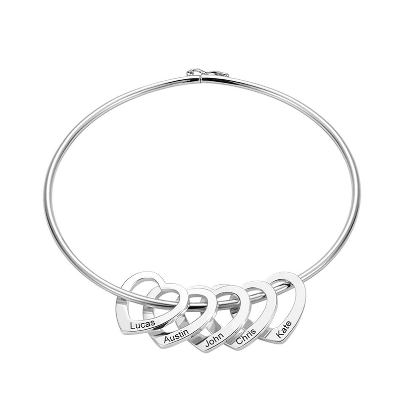 925 silver personalized bracelet customized engrave any Letter Girlfriend Friendship bracelets for men or lady anniversary gift