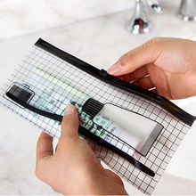 Organizer Makeup-Bag Storage-Pouch Toiletry Toothbrush Travel Transparent Case Wash-Kit