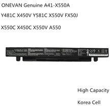 44Wh ONEVAN Novo Original Bateria Do Portátil para ASUS X450 X550A X550 X550C X550B X550V X550D X450C X550CA A450 A550 A41-X550A