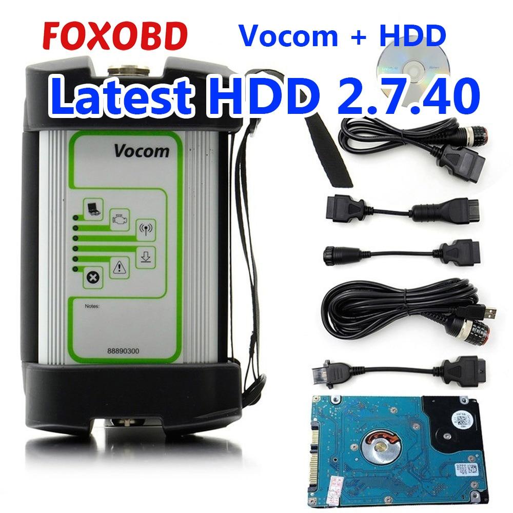Truck Diagnostic Tool FOR VOLVO VOCOM 88890300 V2.7.40 Vocom Truck Scanner Heavy Duty Interface For UD/Mack/Volvo 88890300 Vocom