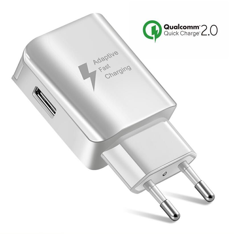 Universal USB Phone Charger EU US <font><b>Plug</b></font> <font><b>Travel</b></font> Wall Fast Charging <font><b>Adapter</b></font> Mobile Phone Chargers For <font><b>Samsung</b></font> Huawei xiaomi iphone image