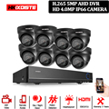 8CH 5MP Full HD CCTV система 2590P HDMI DVR 8 шт мини-металлическая купольная наружная домашняя видео камера безопасности Система наблюдения