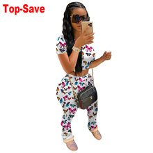 Outfit Tracksuit Short-Sleeve Two-Piece-Set Butterfly Summer Women Spring 2 Tie-Dye Wholesale