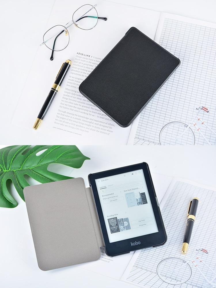 Тонкий чехол для электронной книги Kobo Clear HD 6 дюймов N249, умный защитный чехол, чехол из искусственной кожи с функцией автоматического сна/пробуждения-1