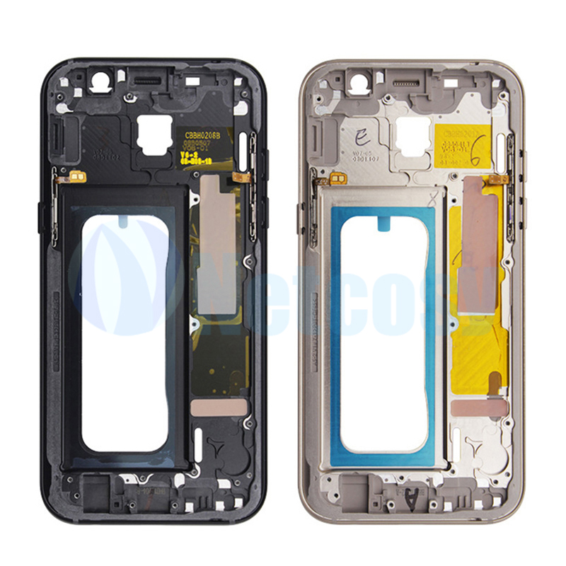 Middle Frame Bezel Housing Cover For <font><b>Samsung</b></font> Galaxy <font><b>A5</b></font> 2017 <font><b>A520</b></font> A520F Mid Plate Chassis Cover Replacement For <font><b>Samsung</b></font> <font><b>A520</b></font> image