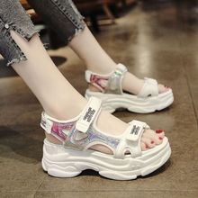 2020Summer Thick Bottom Female Sport Sandals Sexy Hollow Out Open Toe Platform Shoes Women Wedge Casual Shoes Ladies Beach Shoes